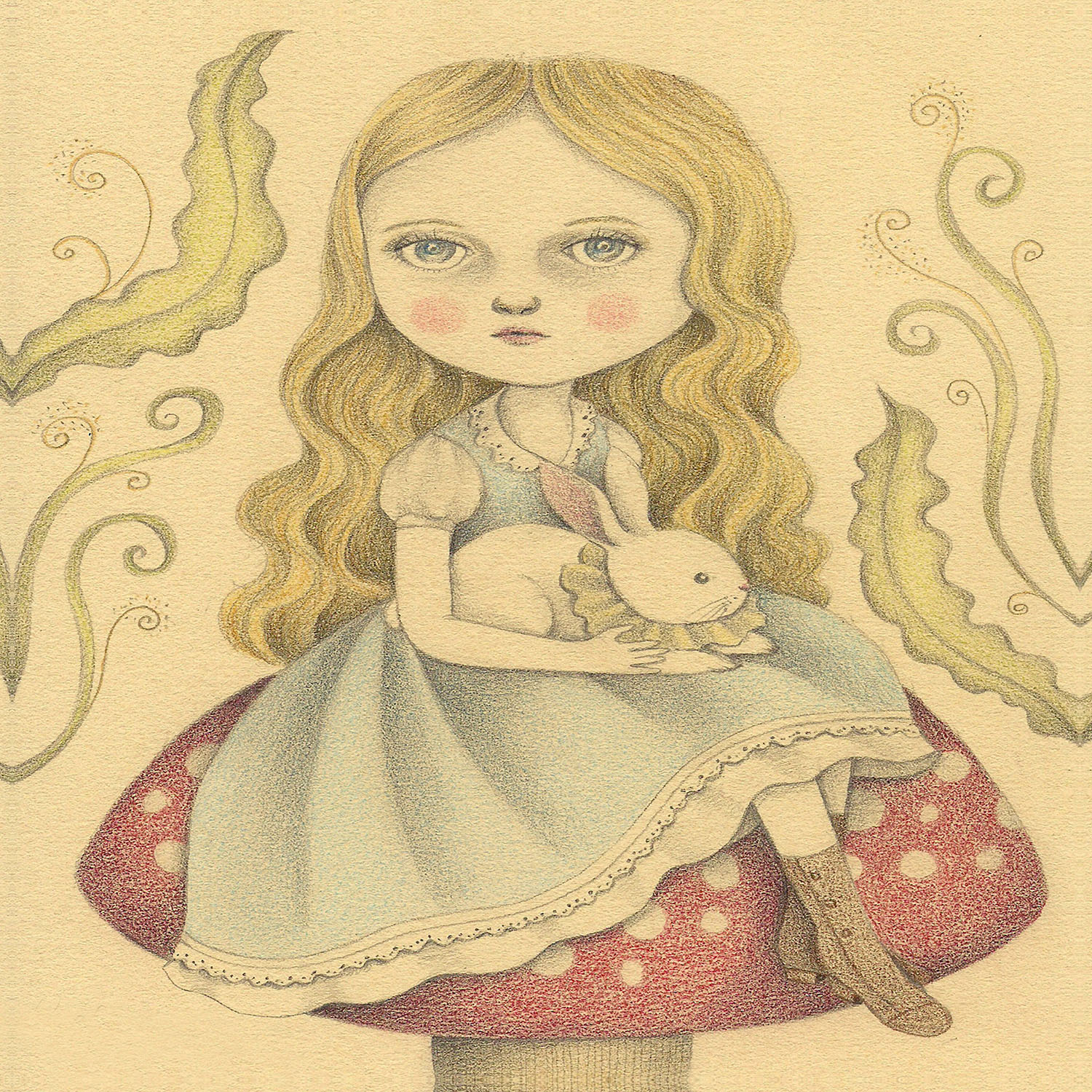 DiaNoche Designs Artist | Amalia K. - Alice Contemplating