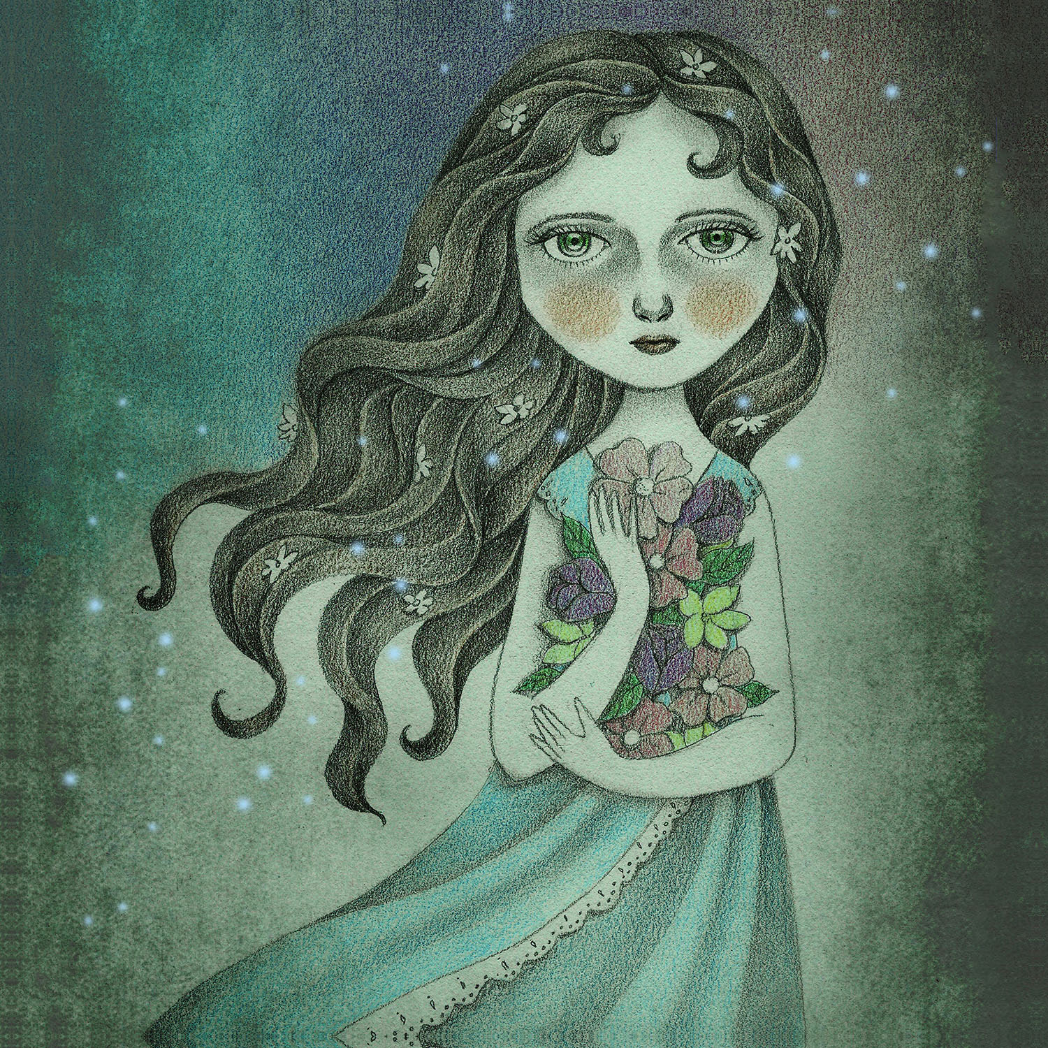 DiaNoche Designs Artist | Amalia K. - Flower the Midnight Goddess