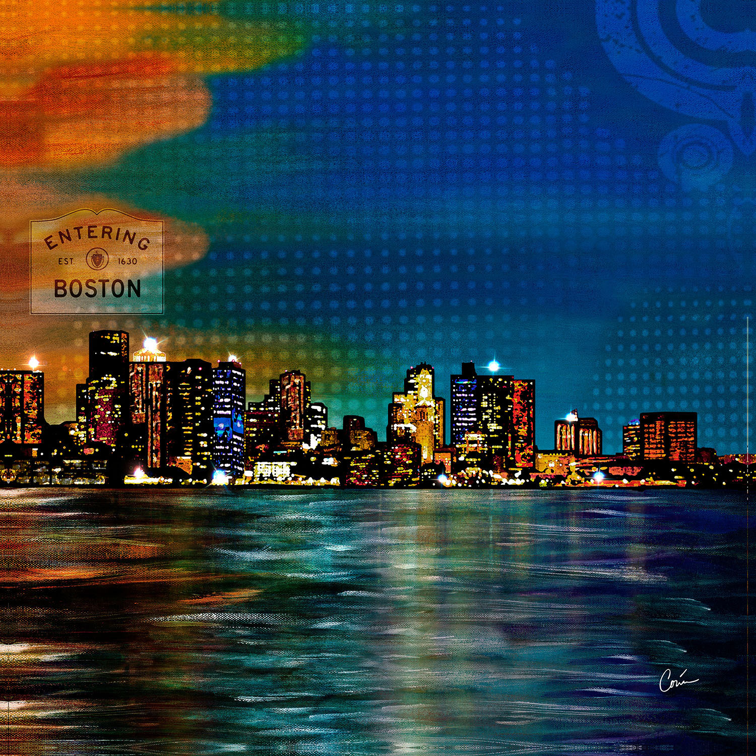 DiaNoche Designs Artist | Corina Bakke - Boston Skyline