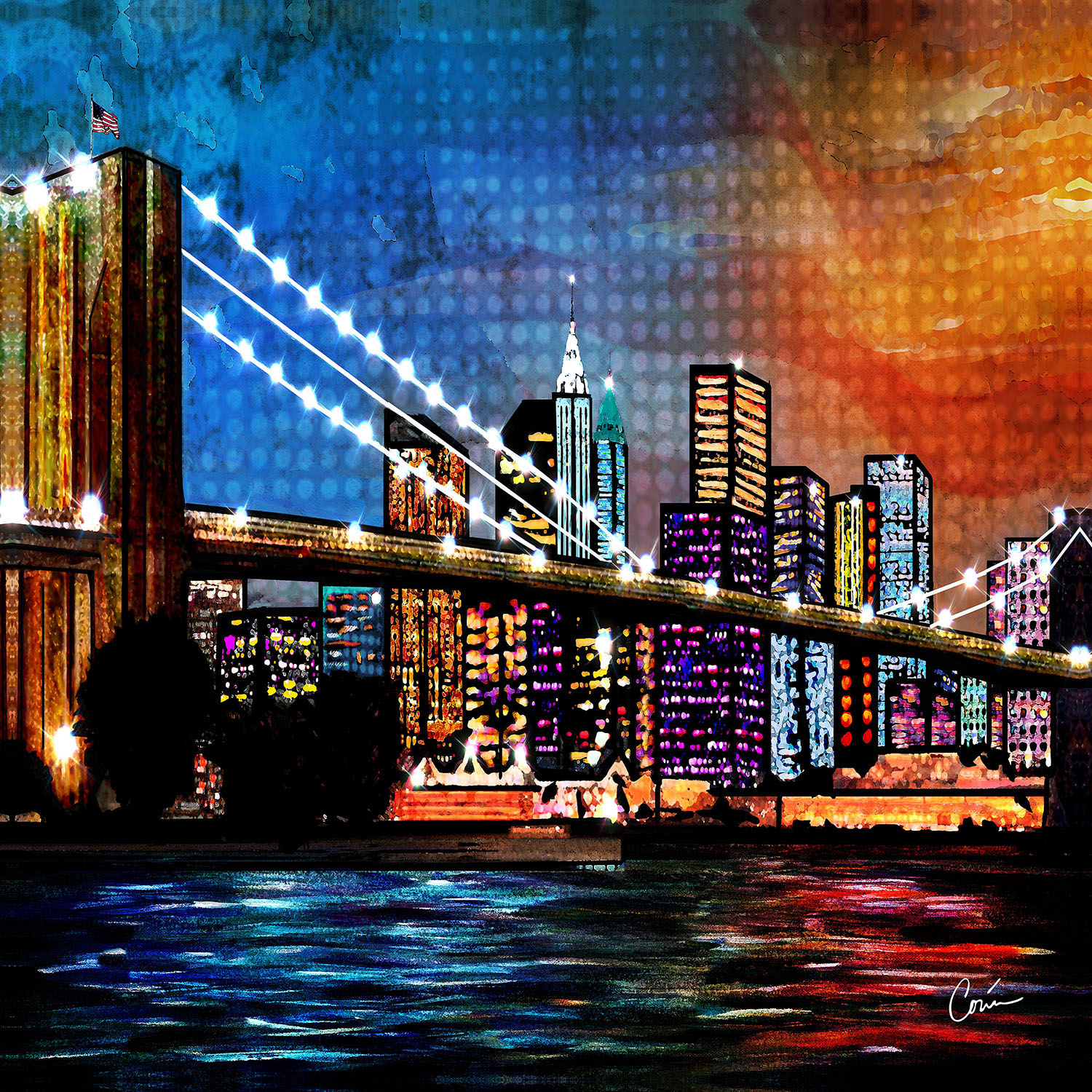 DiaNoche Designs Artist | Corina Bakke - Brooklyn Bridge