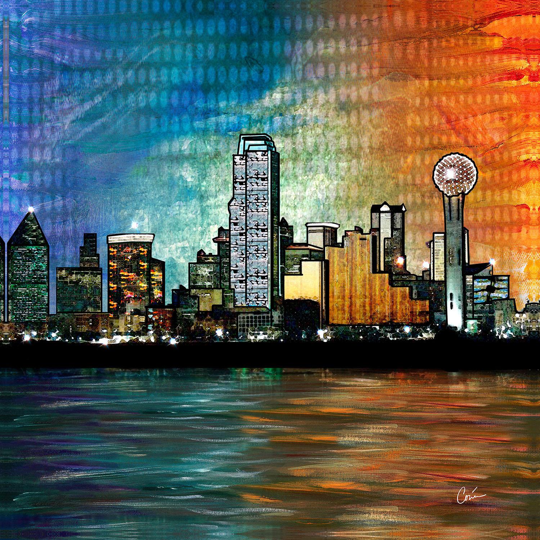 DiaNoche Designs Artist | Corina Bakke - Dallas Skyline