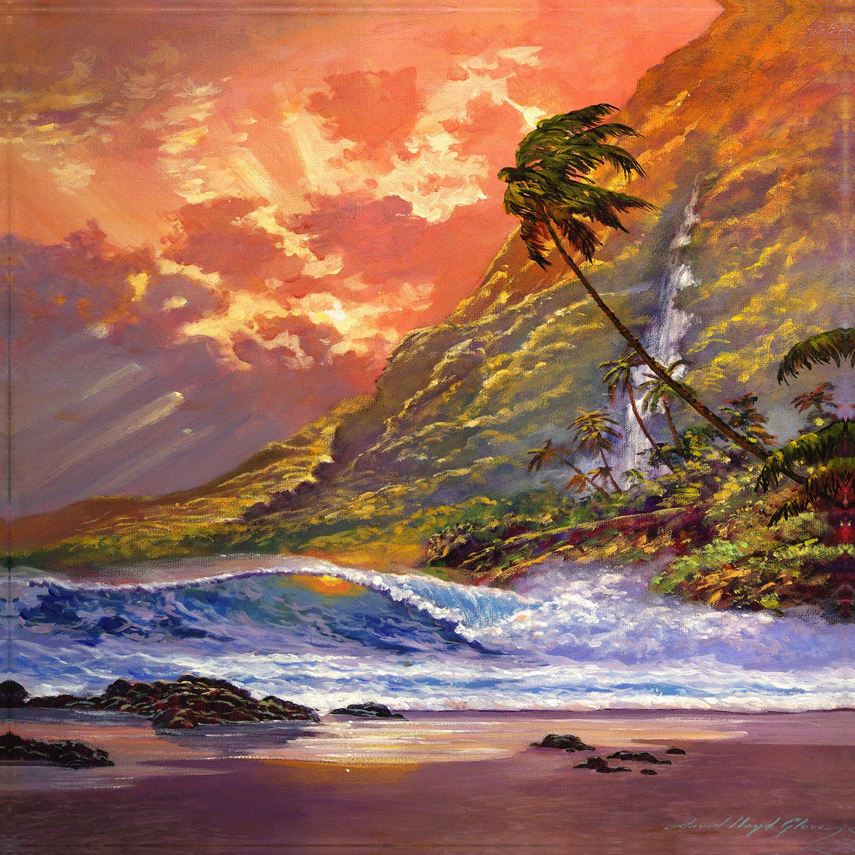 DiaNoche Designs Artist | David Lloyd Glover - Dawn in Oahu