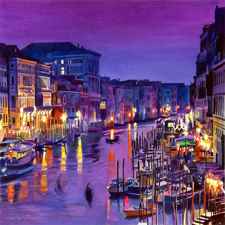 DiaNoche Designs Artist | David Lloyd Glover - Romantic Venice Night