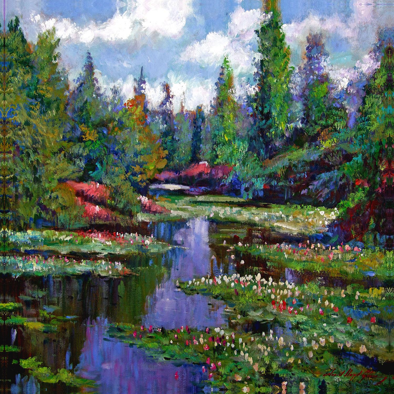DiaNoche Designs Artist | David Lloyd Glover - Waterlily Lake Reflections