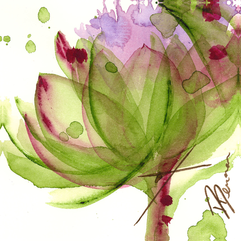 DiaNoche Designs Artist | Dawn Derman - Artichoke Flower
