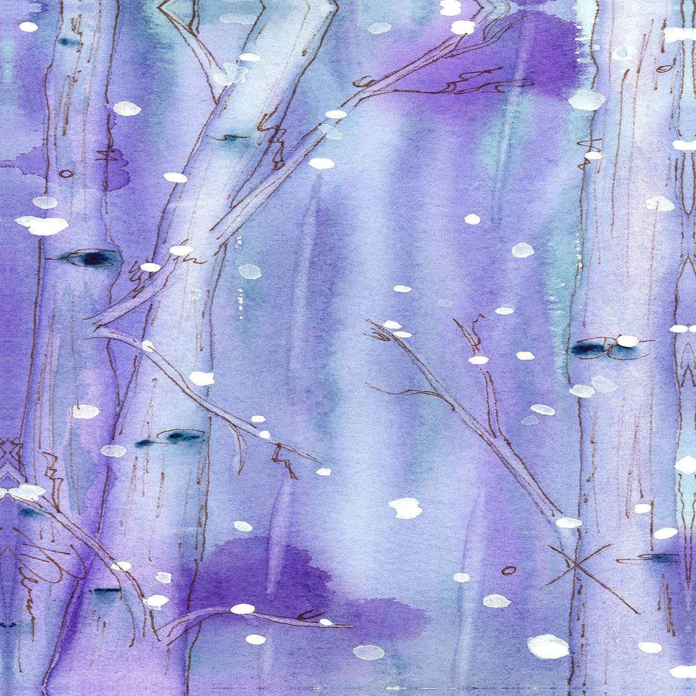 DiaNoche Designs Artist | Dawn Derman - Midnight Snow in the Aspens
