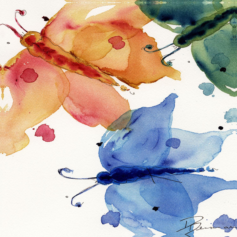DiaNoche Designs Artist | Dawn Derman - Three Moths I