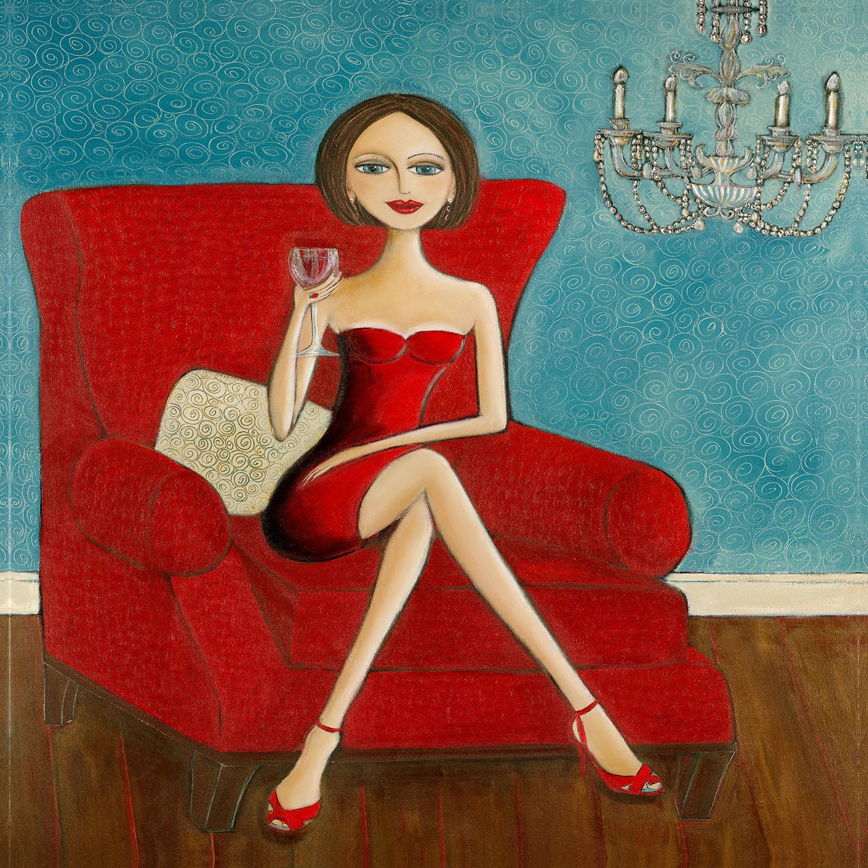 DiaNoche Designs Artist | Denise Daffara - Little Red Dress