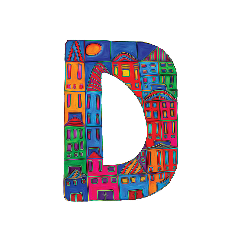DiaNoche Designs Artist | Dora Ficher - Alphabet Letter D