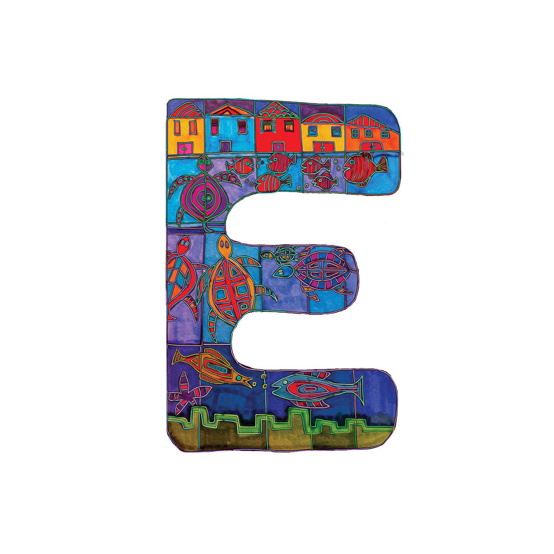 DiaNoche Designs Artist | Dora Ficher - Alphabet Letter E