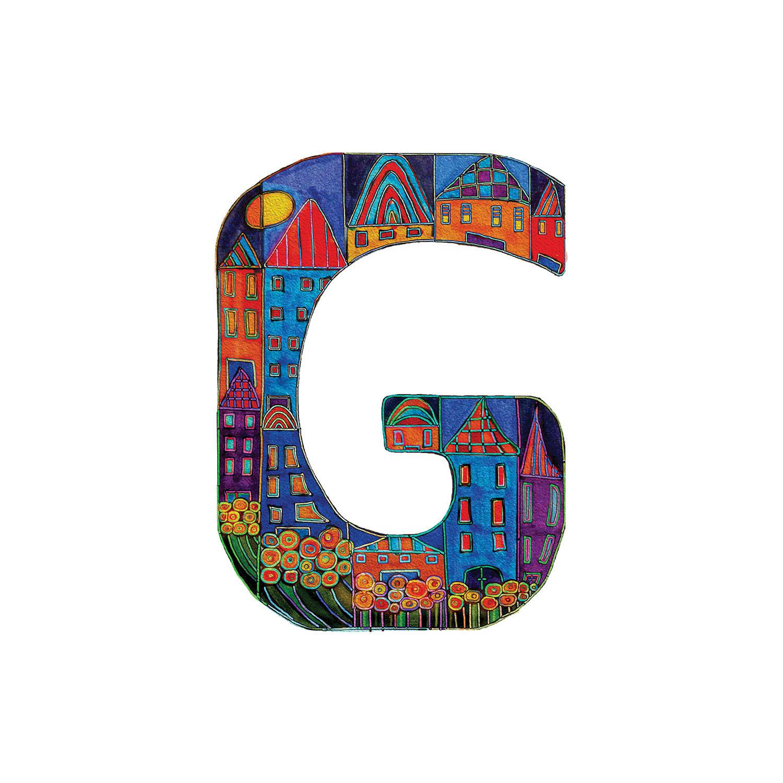 DiaNoche Designs Artist | Dora Ficher - Alphabet Letter G