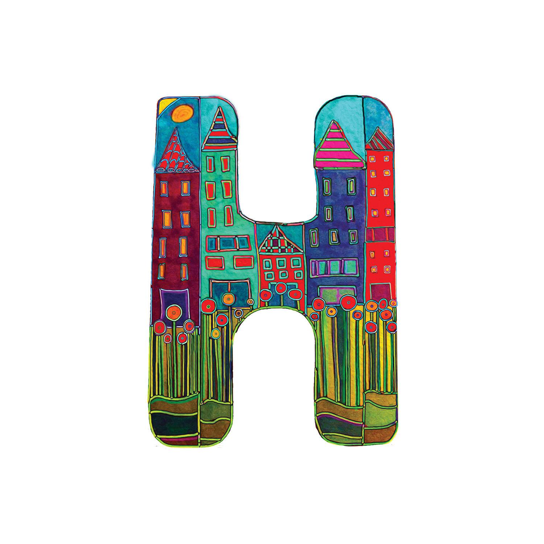 DiaNoche Designs Artist | Dora Ficher - Alphabet Letter H