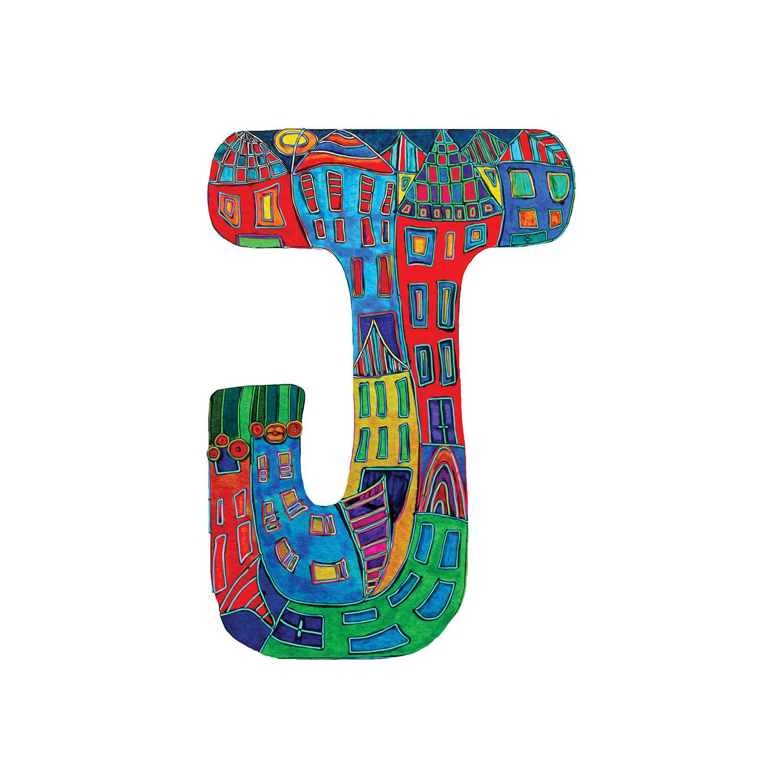 DiaNoche Designs Artist | Dora Ficher - Alphabet Letter J