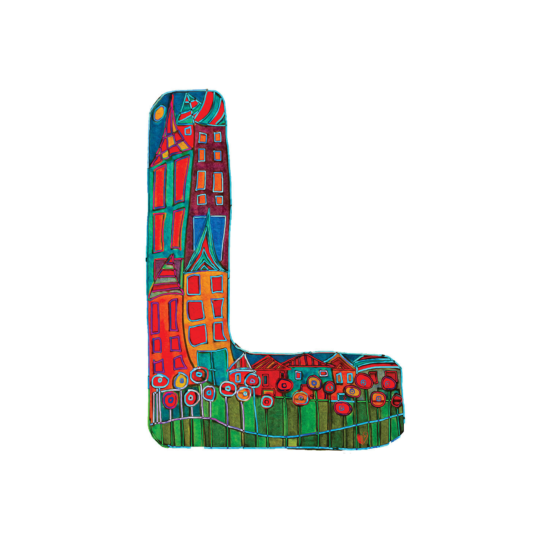 DiaNoche Designs Artist | Dora Ficher - Alphabet Letter L