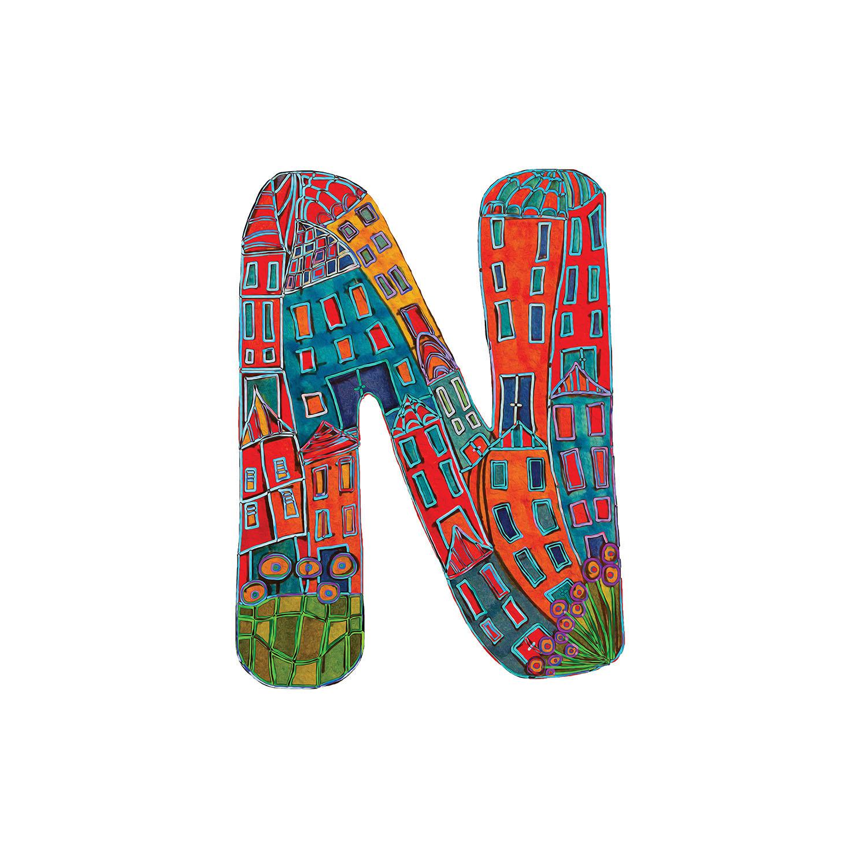 DiaNoche Designs Artist | Dora Ficher - Alphabet Letter N