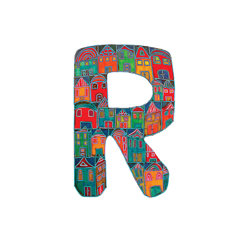 DiaNoche Designs Artist | Dora Ficher - Alphabet Letter R