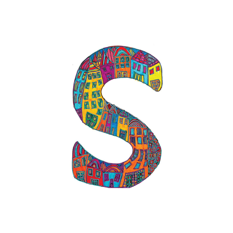 DiaNoche Designs Artist | Dora Ficher - Alphabet Letter S