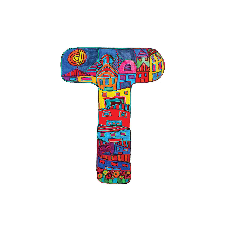 DiaNoche Designs Artist | Dora Ficher - Alphabet Letter T