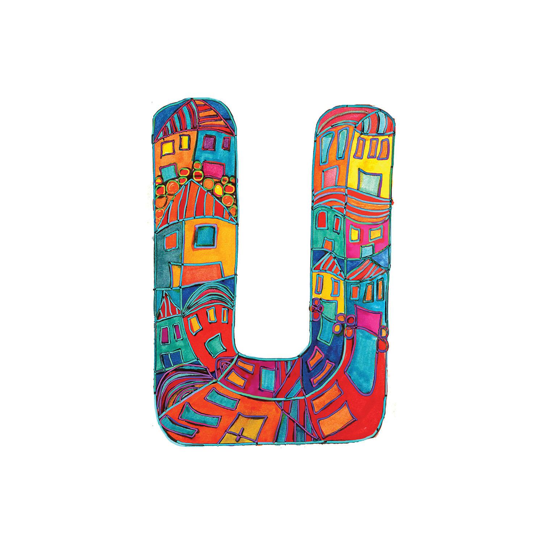 DiaNoche Designs Artist | Dora Ficher - Alphabet Letter U