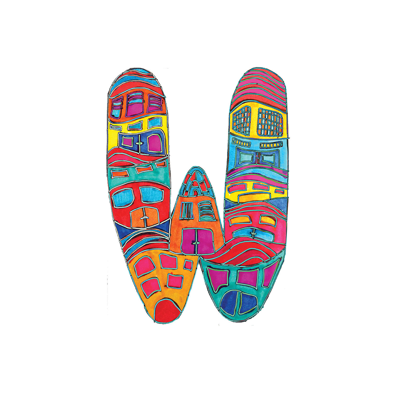 DiaNoche Designs Artist | Dora Ficher - Alphabet Letter W