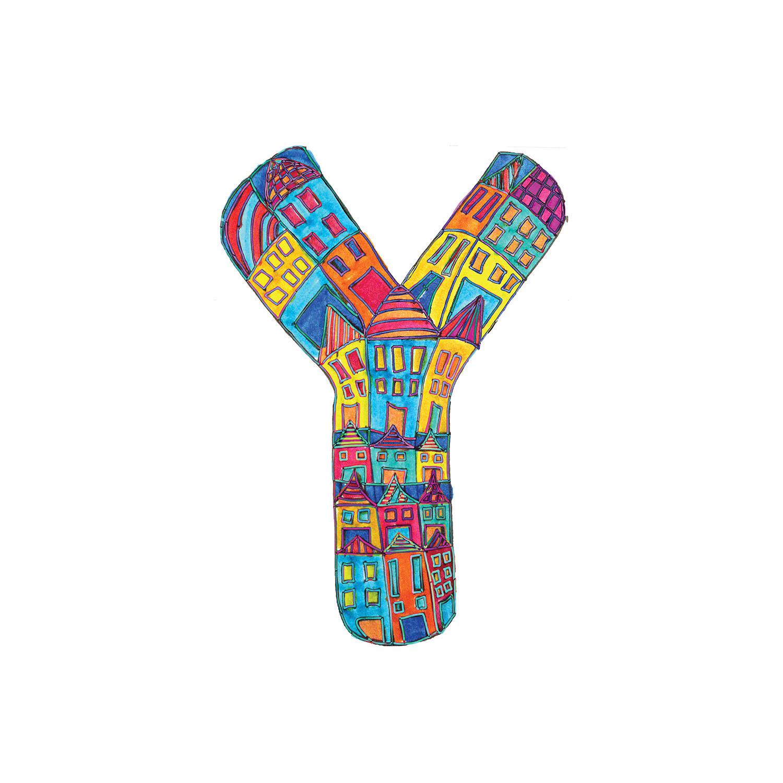 DiaNoche Designs Artist | Dora Ficher - Alphabet Letter Y