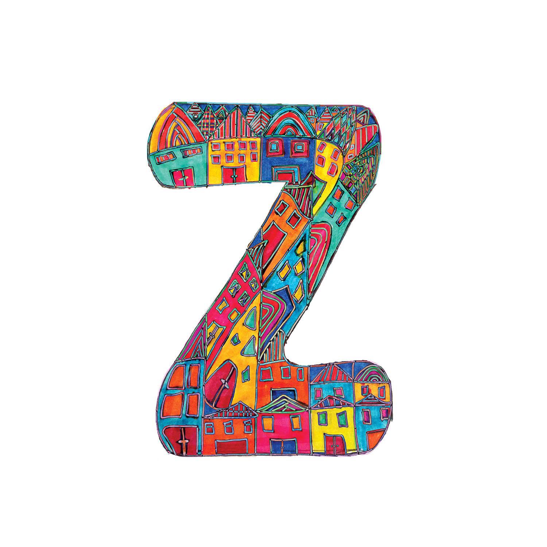 DiaNoche Designs Artist | Dora Ficher - Alphabet Letter Z