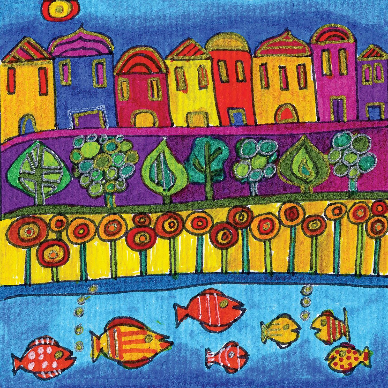 DiaNoche Designs Artist | Dora Ficher - Fishing Village
