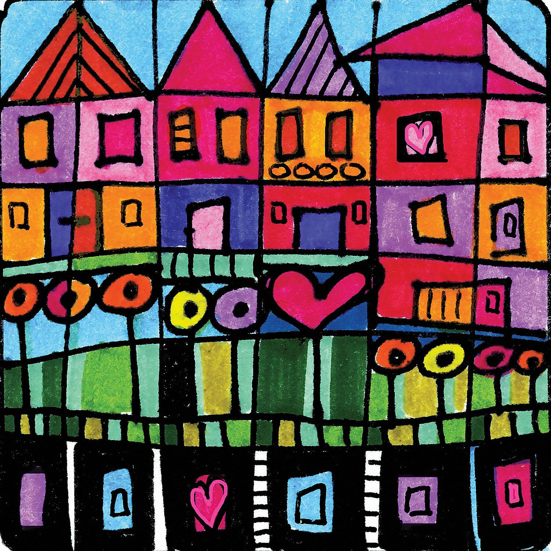 DiaNoche Designs Artist | Dora Ficher - Happy Town
