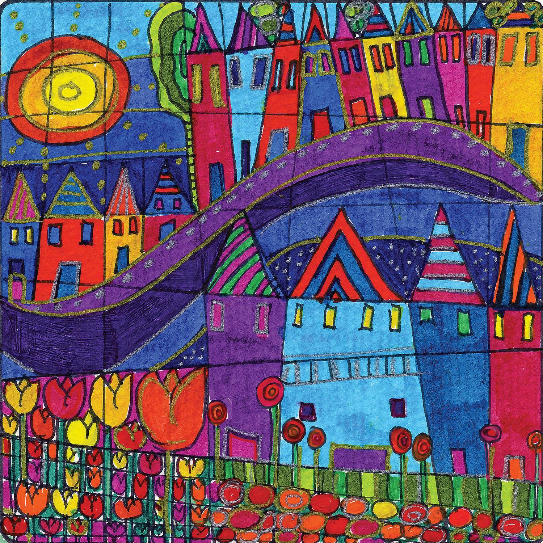 DiaNoche Designs Artist | Dora Ficher - Purple Mountain