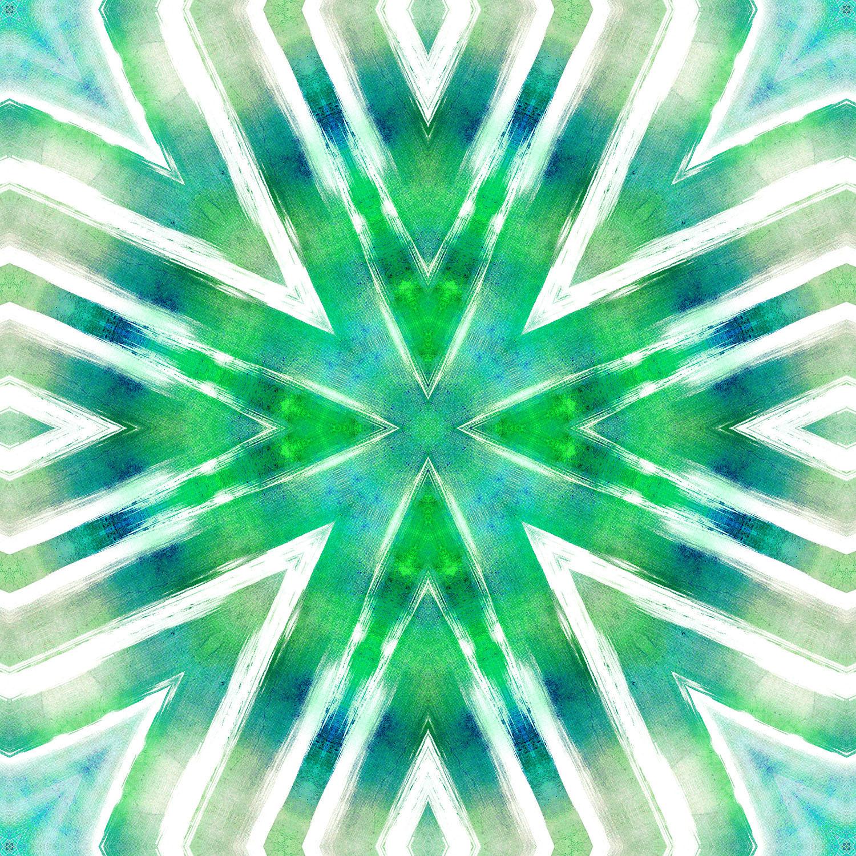 DiaNoche Designs Artist | Iris Lehnhardt - Batik Mandala Seacolors