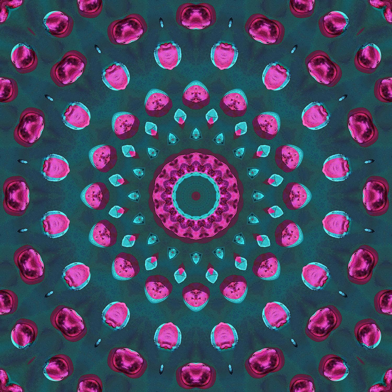 DiaNoche Designs Artist   Iris Lehnhardt - Magenta and Emerald Green