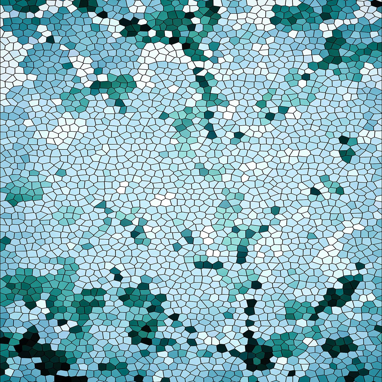 DiaNoche Designs Artist   Iris Lehnhardt - Mosaic Blue Green