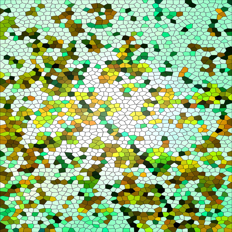 DiaNoche Designs Artist   Iris Lehnhardt - Mosaic Veil Green
