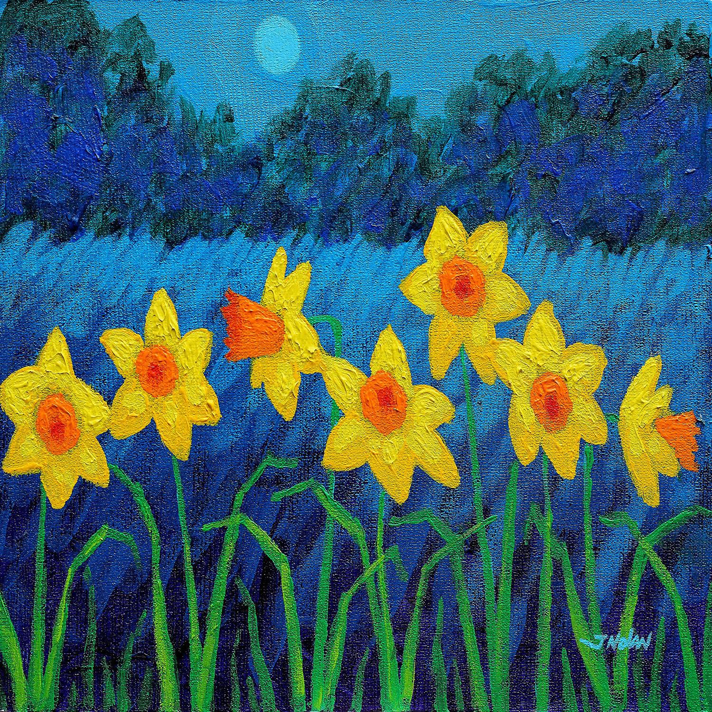 DiaNoche Designs Artist | John Nolan - Moonlit Daffodils