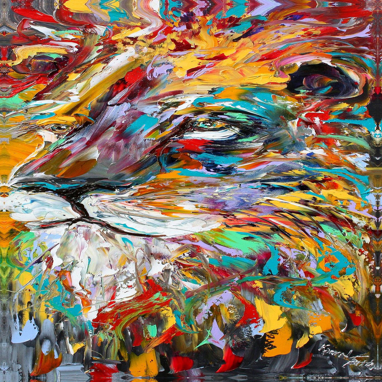 DiaNoche Designs Artist | Karen Tarlton - Abstract Lion