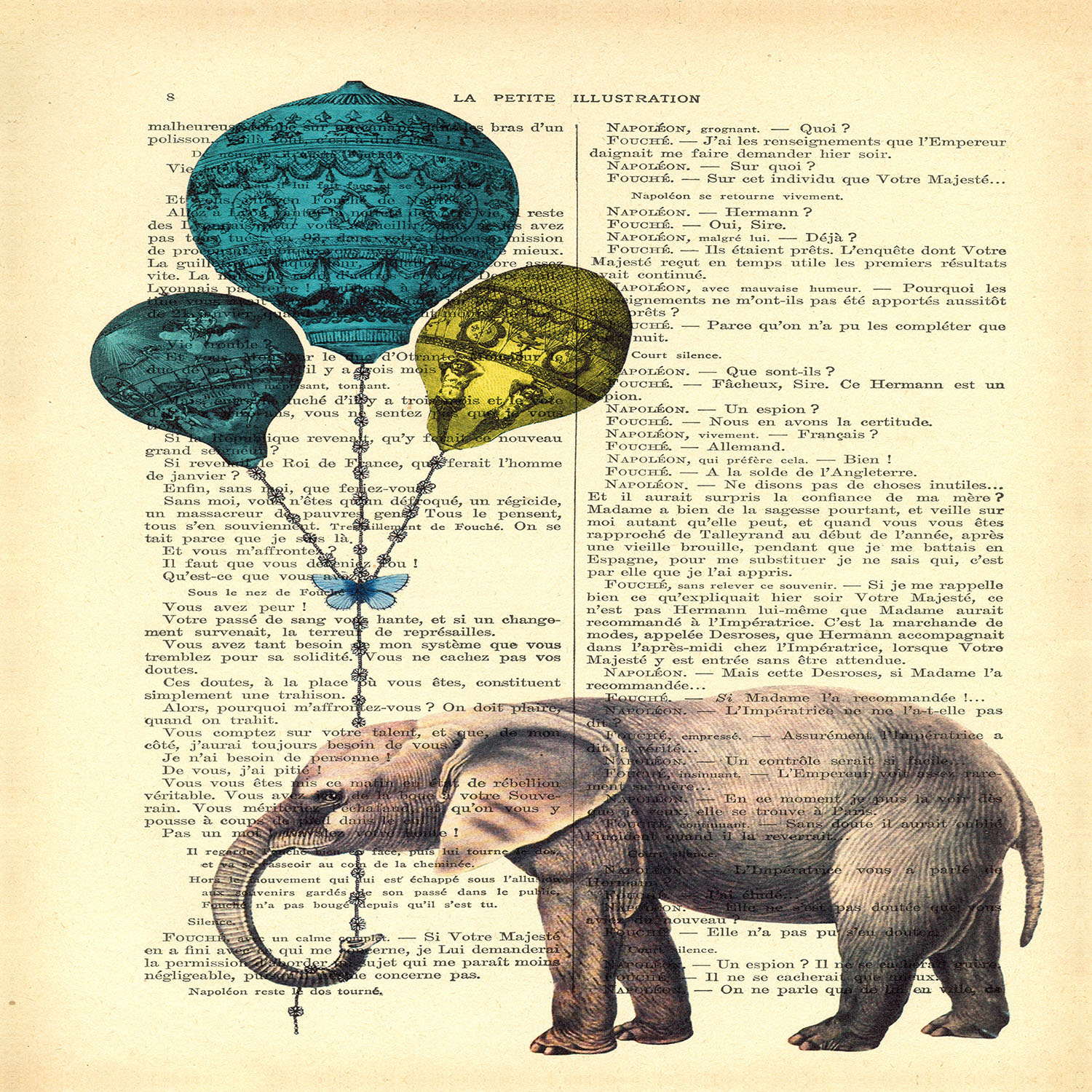 DiaNoche Designs Artist | Madame Memento - Elephant Blue Balloons