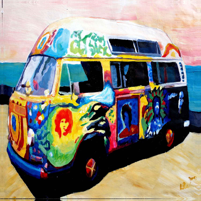 DiaNoche Designs Artist | Markus Bleichner - Here Comes the Sun Volkswagon Bus