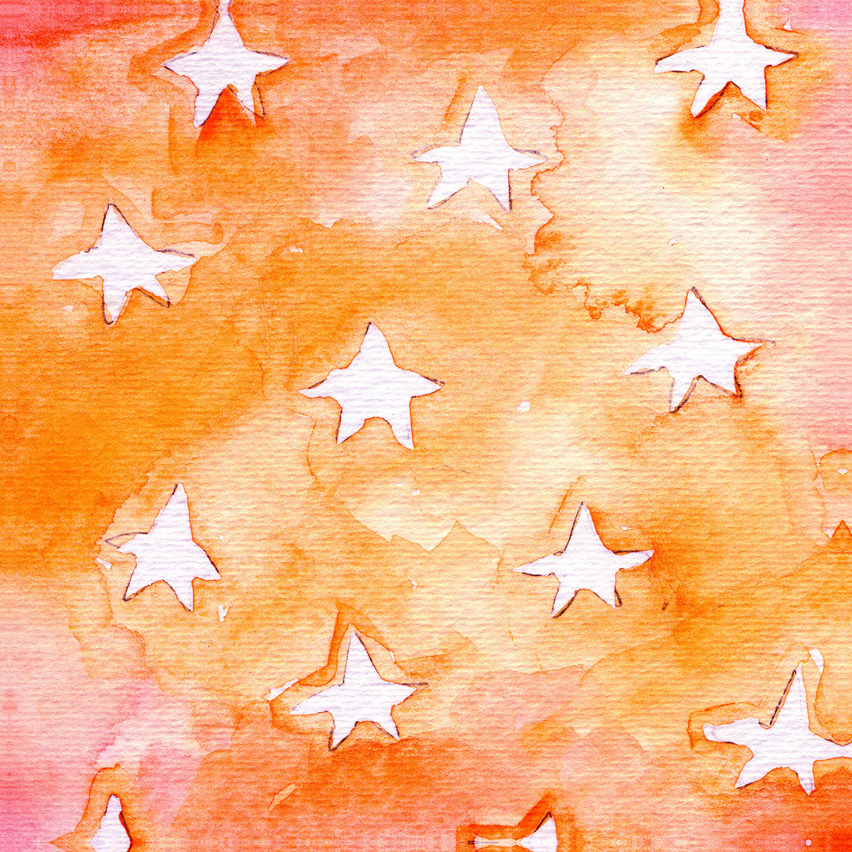 DiaNoche Designs Artist   Marley Ungaro - Artsy Orange Stars
