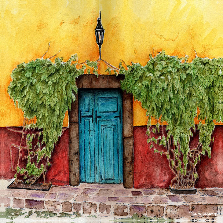 DiaNoche Designs Artist   Marley Ungaro - Blue Door