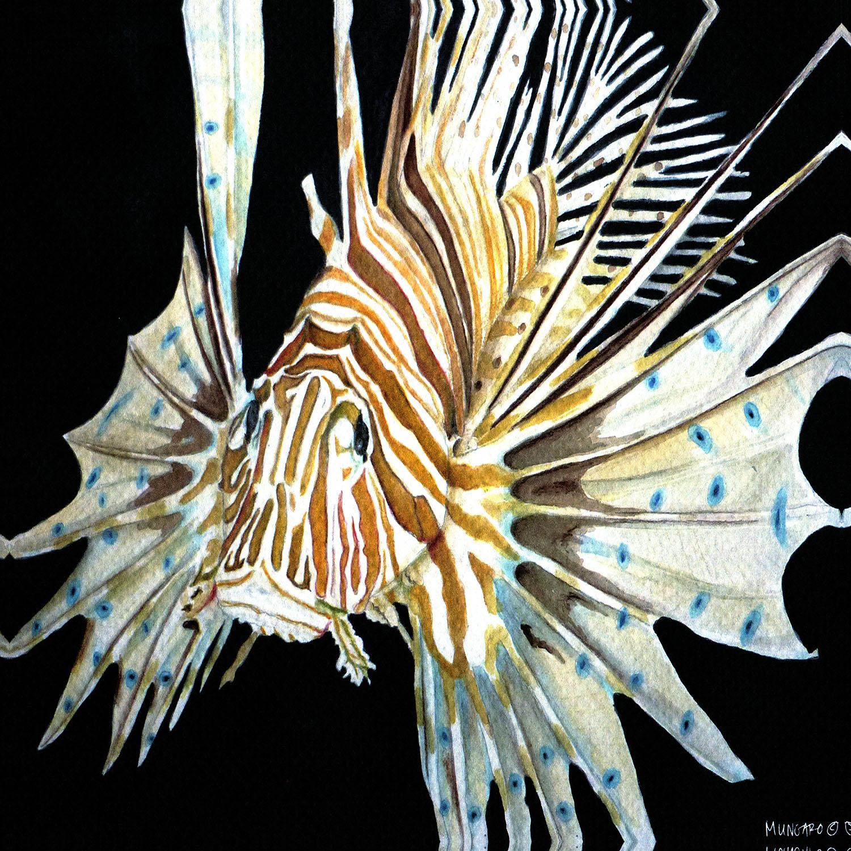 DiaNoche Designs Artist   Marley Ungaro - Deep Sea Life - Lion Fish