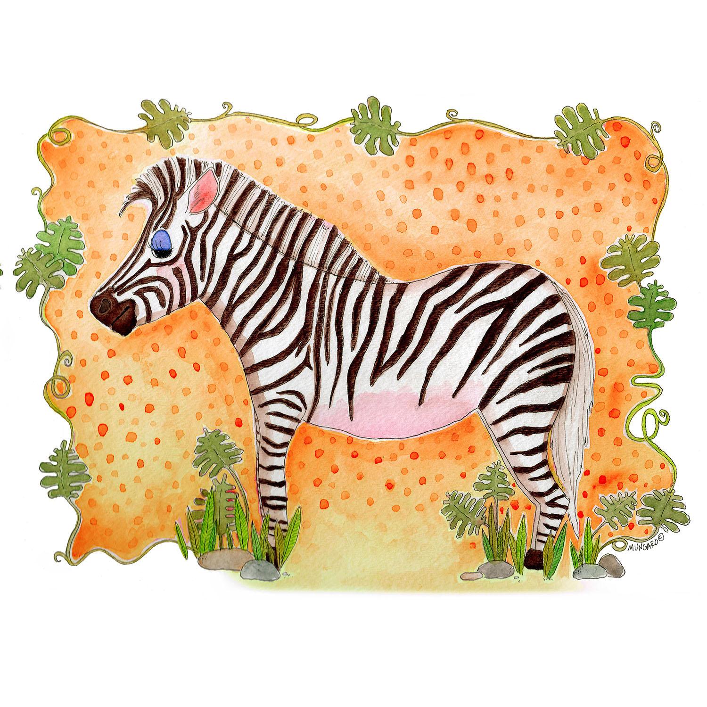 DiaNoche Designs Artist   Marley Ungaro - Zebra Orange