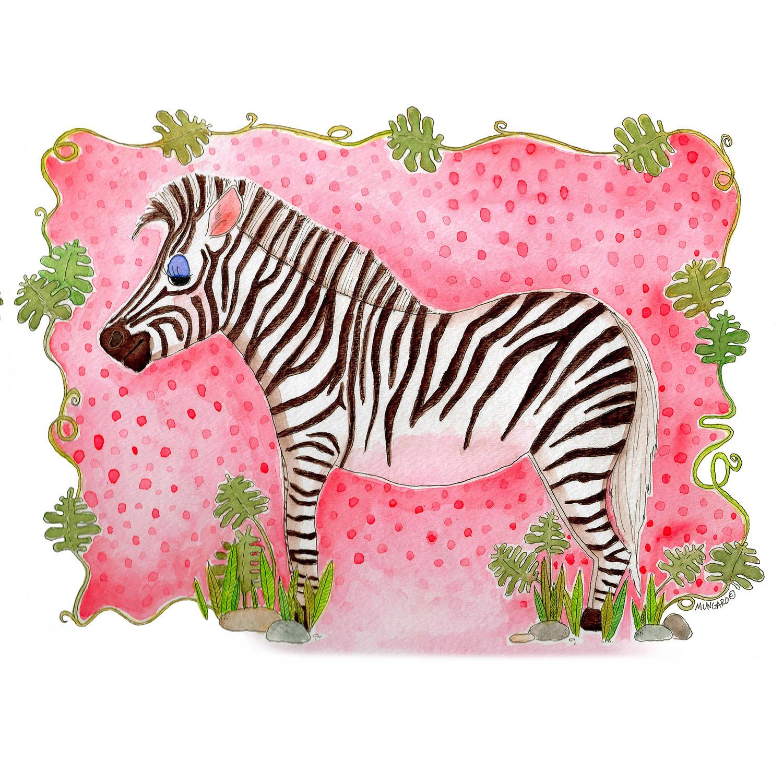 DiaNoche Designs Artist   Marley Ungaro - Zebra Raspberry