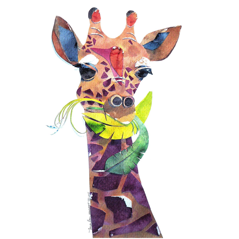 DiaNoche Designs Artist   Marley Ungaro - Giraffe