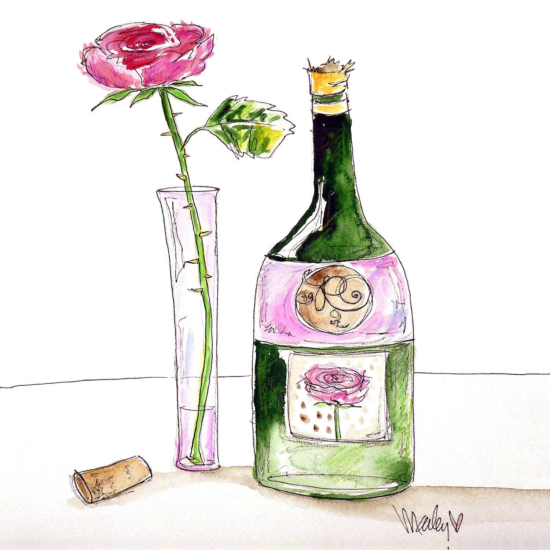 DiaNoche Designs Artist   Marley Ungaro - Rose Wine