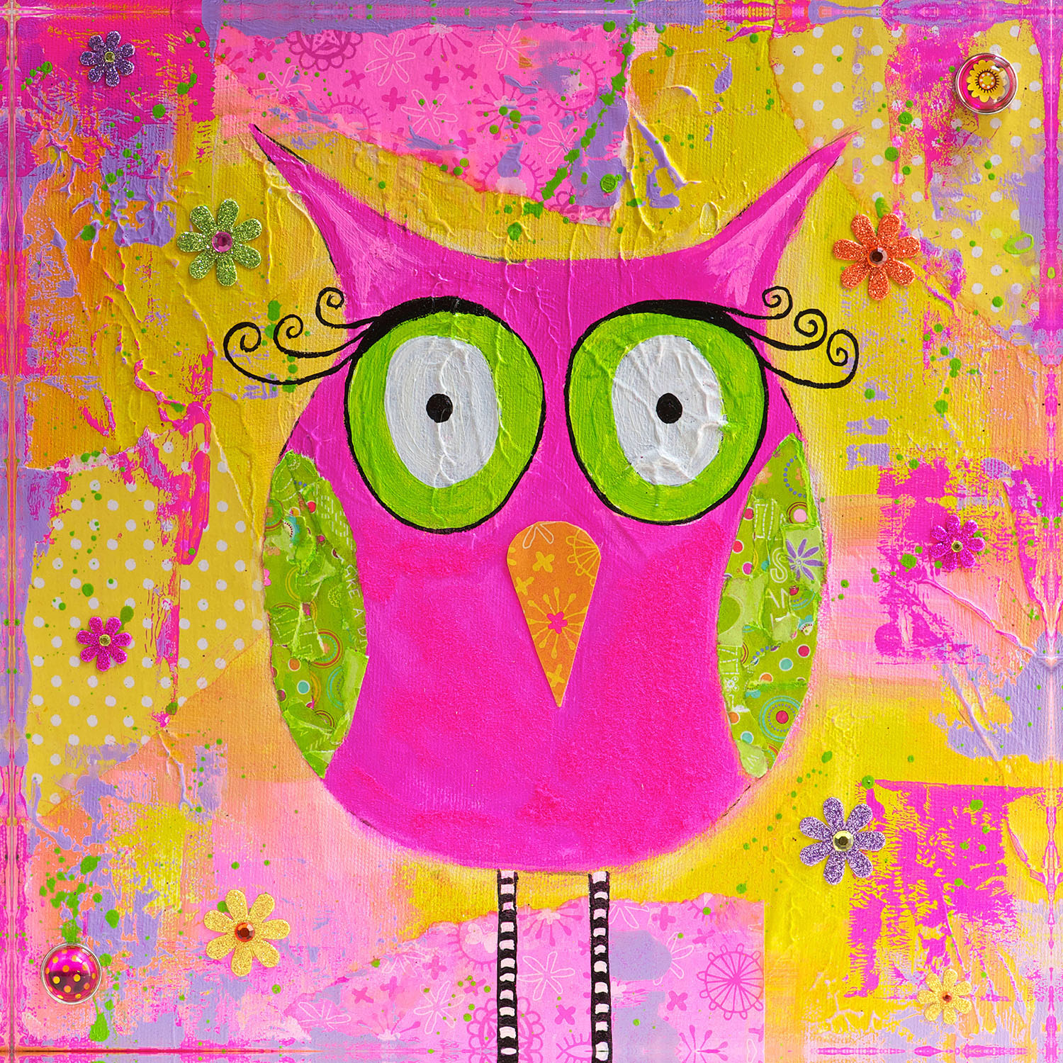 DiaNoche Designs Artist | Michele Fauss - Hootie the Owl