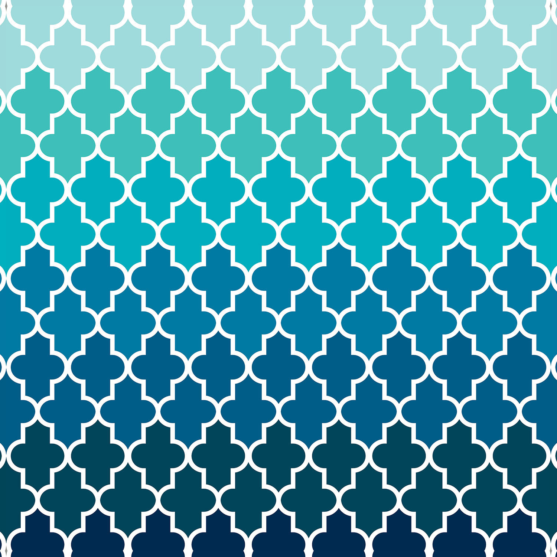 DiaNoche Designs Artist | Organic Saturation - Aqua Ombre Quatrefoil