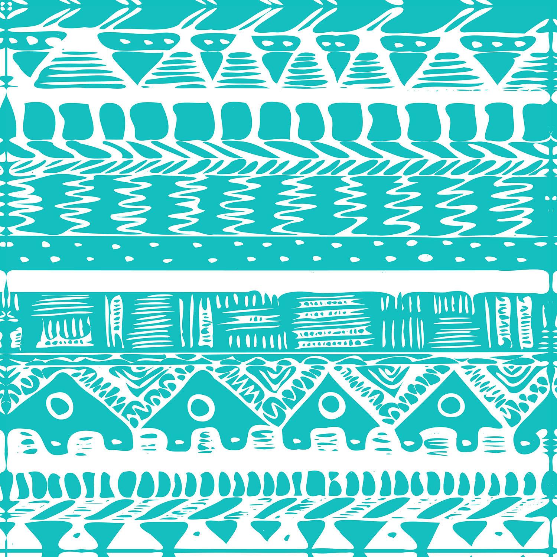 DiaNoche Designs Artist | Organic Saturation - Boho Blue Aztec