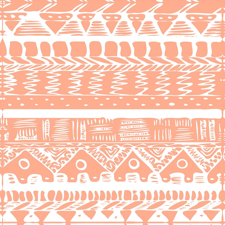 DiaNoche Designs Artist | Organic Saturation - Boho Coral Aztec