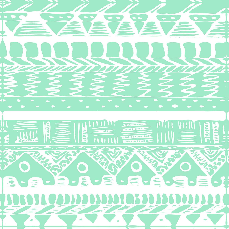 DiaNoche Designs Artist | Organic Saturation - Boho Mint Aztec