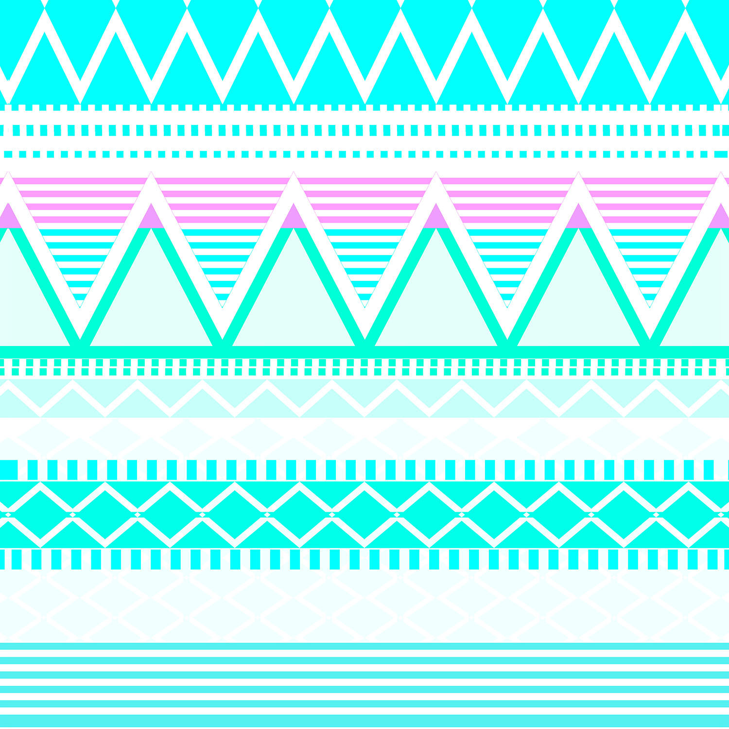 DiaNoche Designs Artist | Organic Saturation - Bright Turquoise Tribal